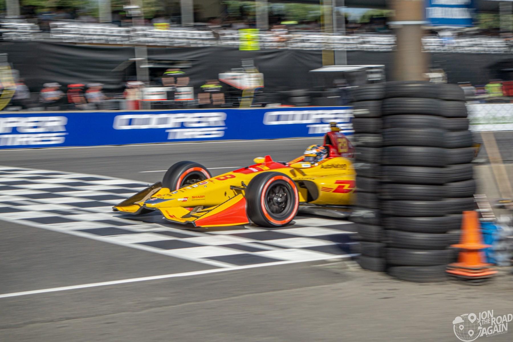 Grand Prix of Portland Finish Line