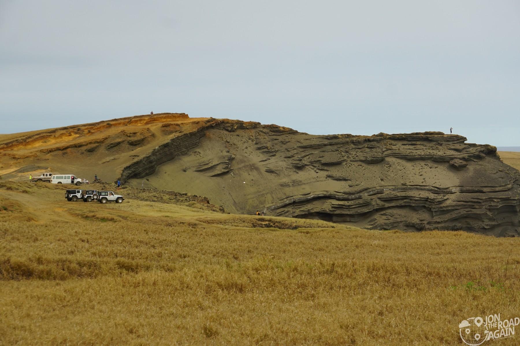 First view of Papakōlea Green Sand Beach