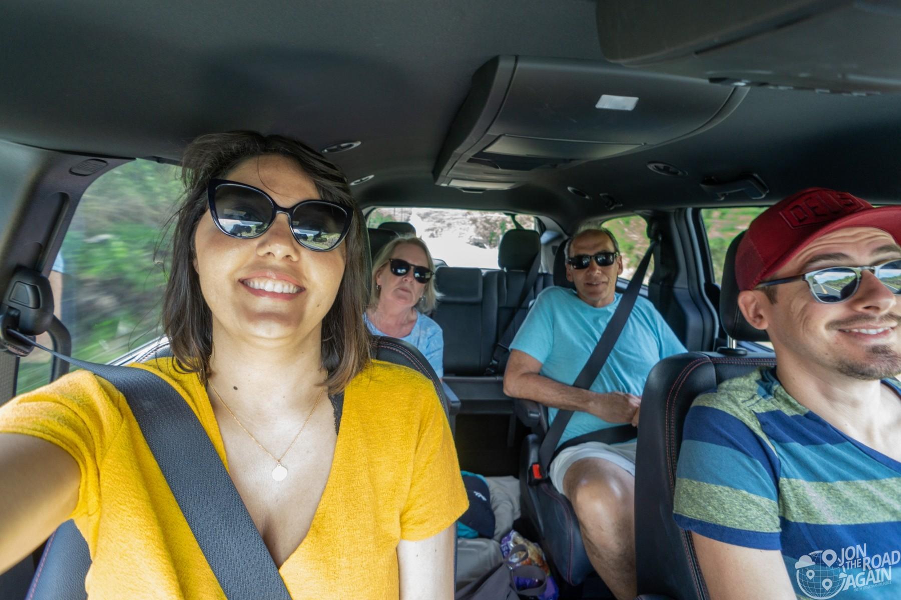 Family in the minivan