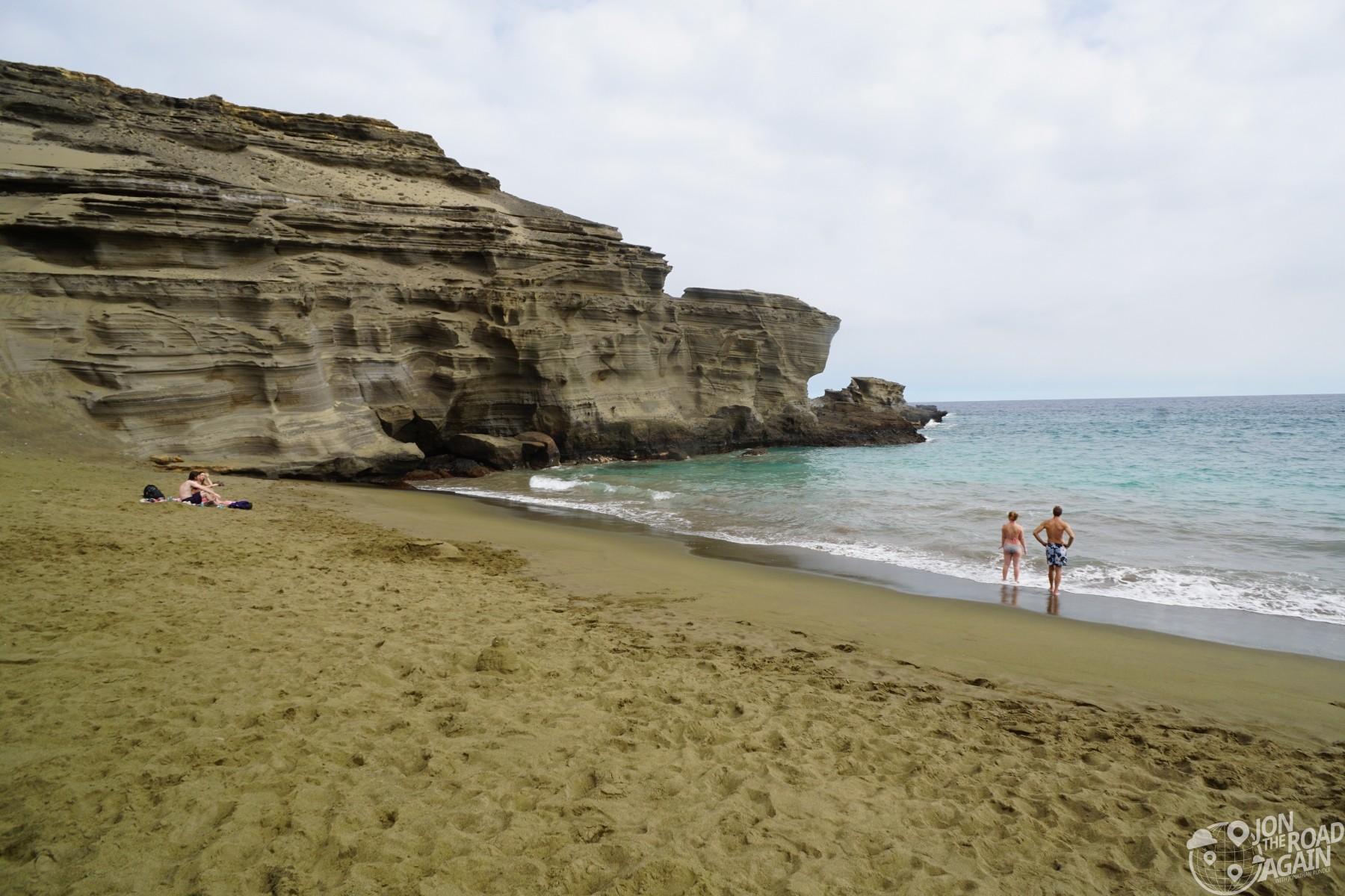 Hawaii green sand beach