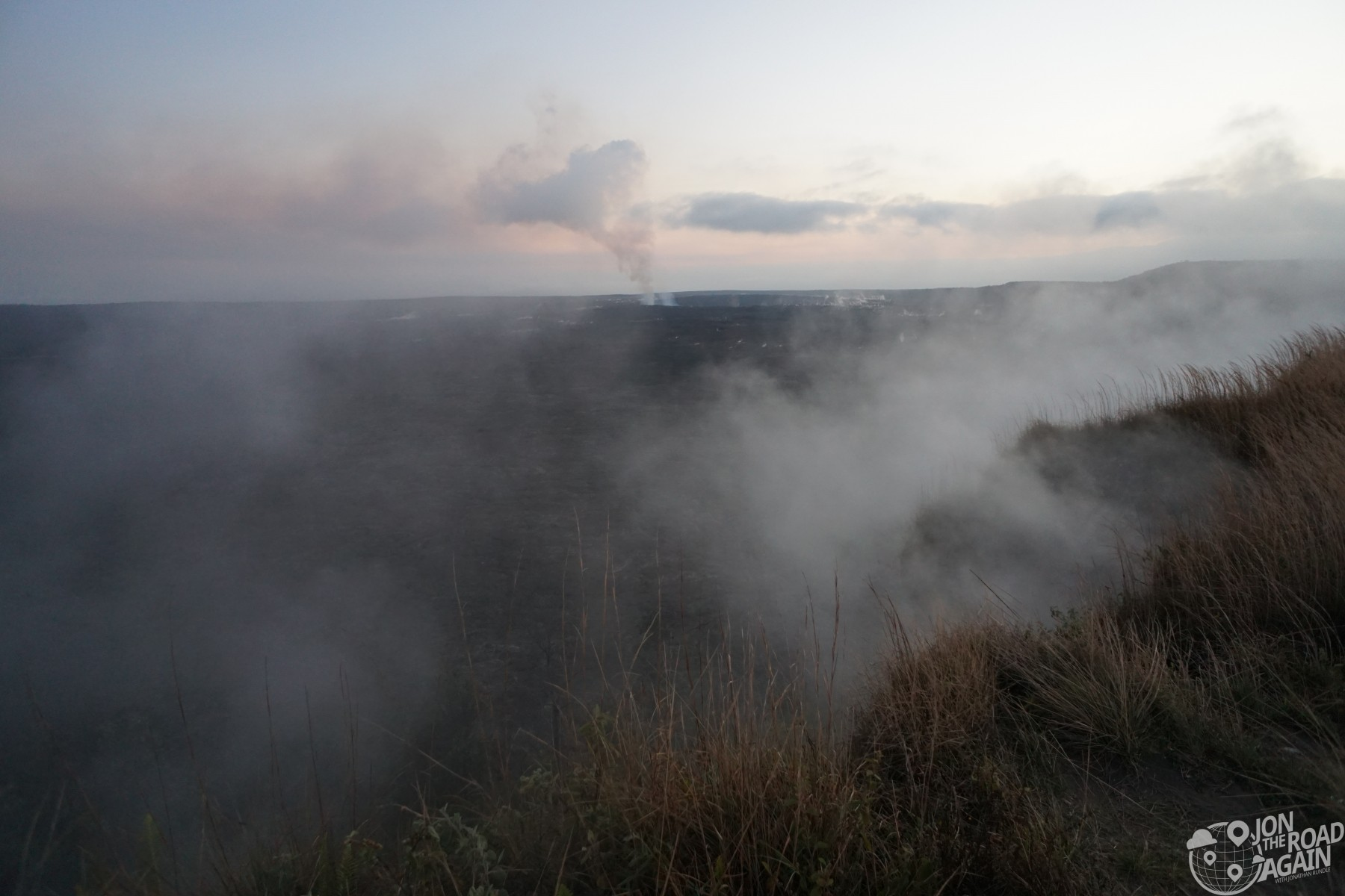 Steam vents Volcanoes National Park