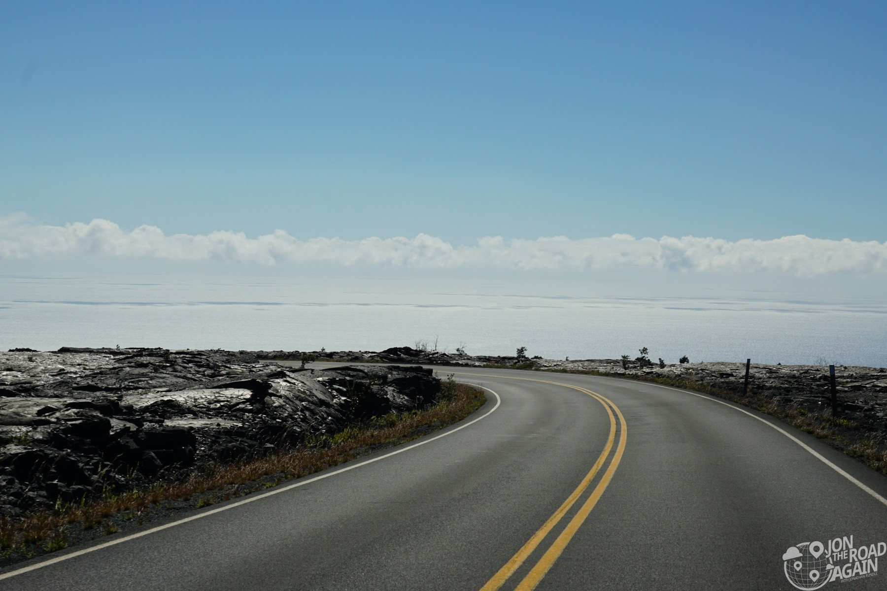 Road through Volcanoes National Park