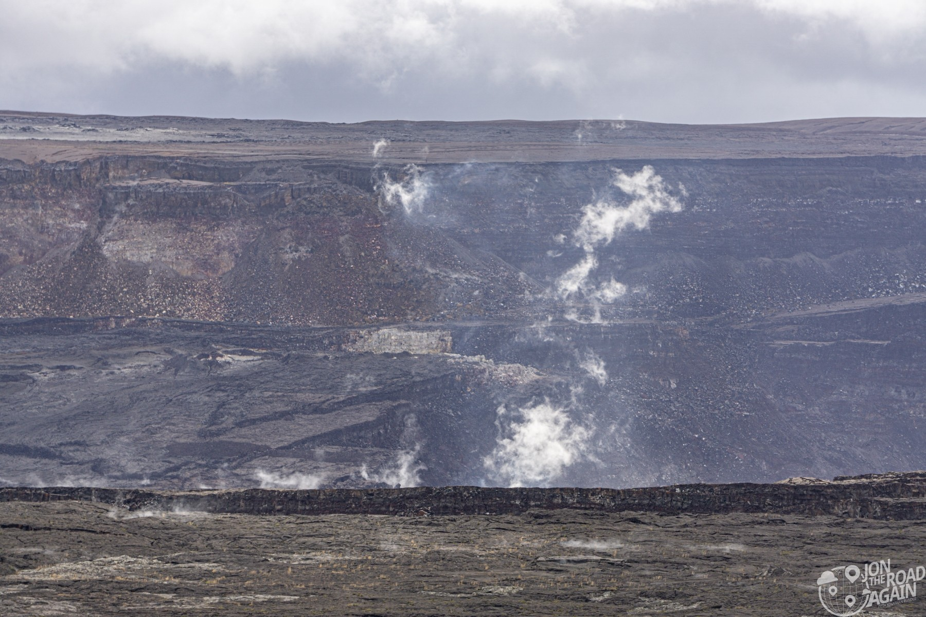 Kilauea crater overlook