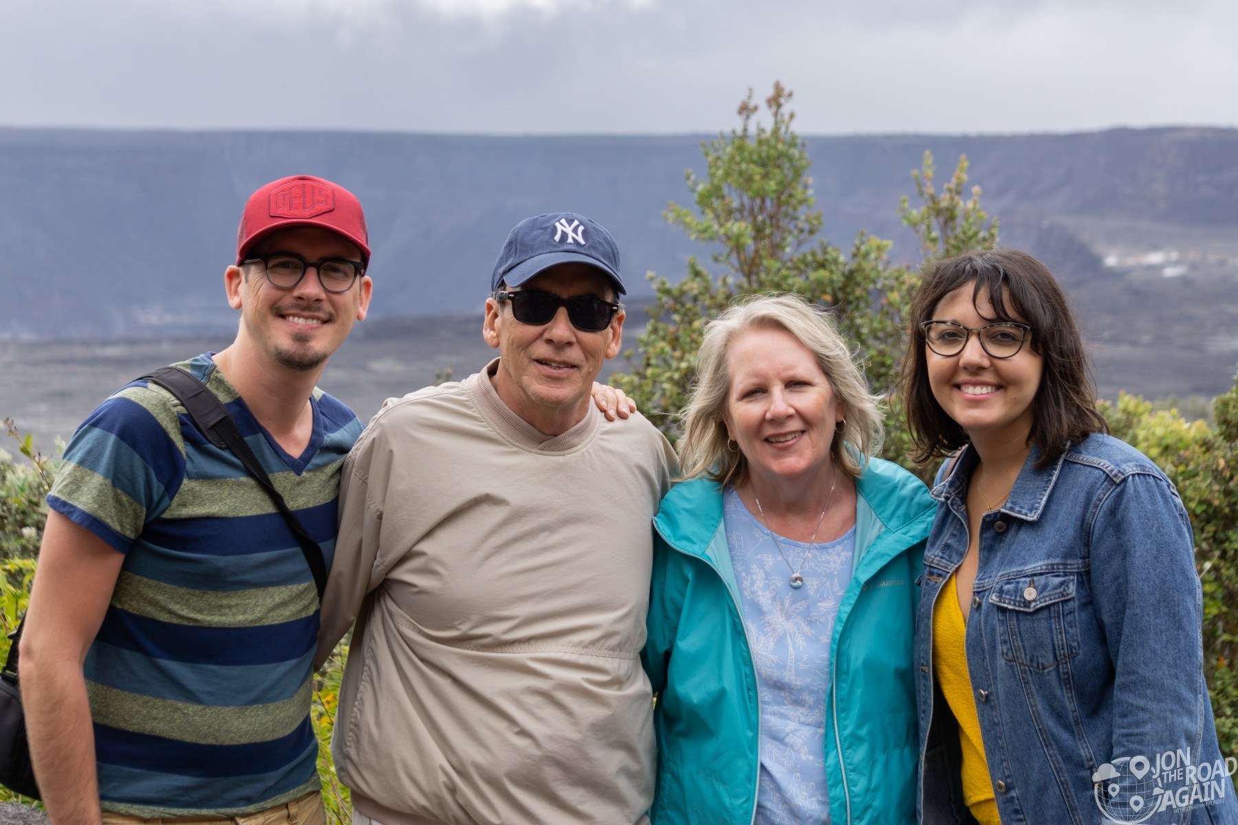 Family photo at Volcano National Park