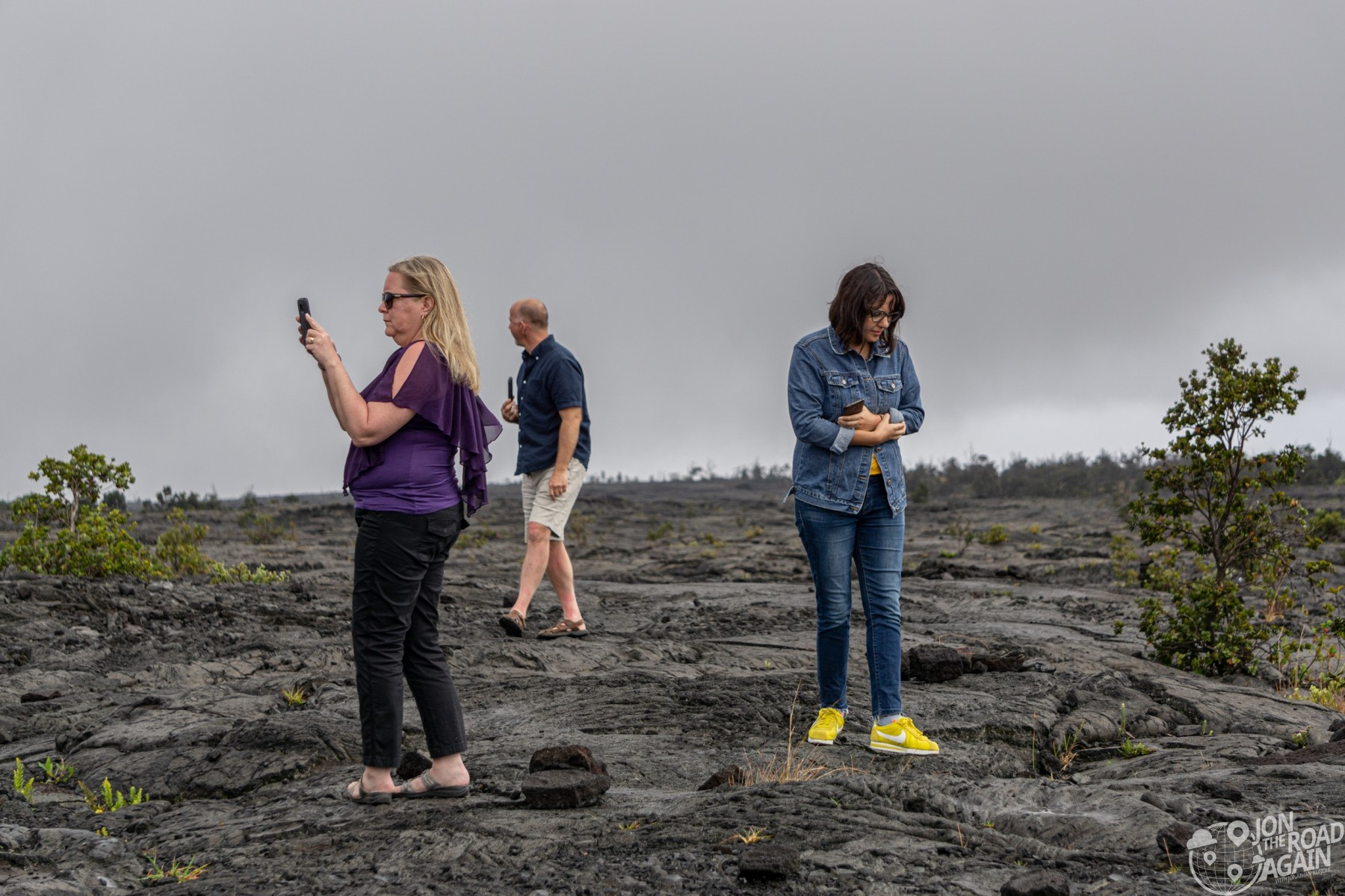 Lava field at Volcanoes National Park