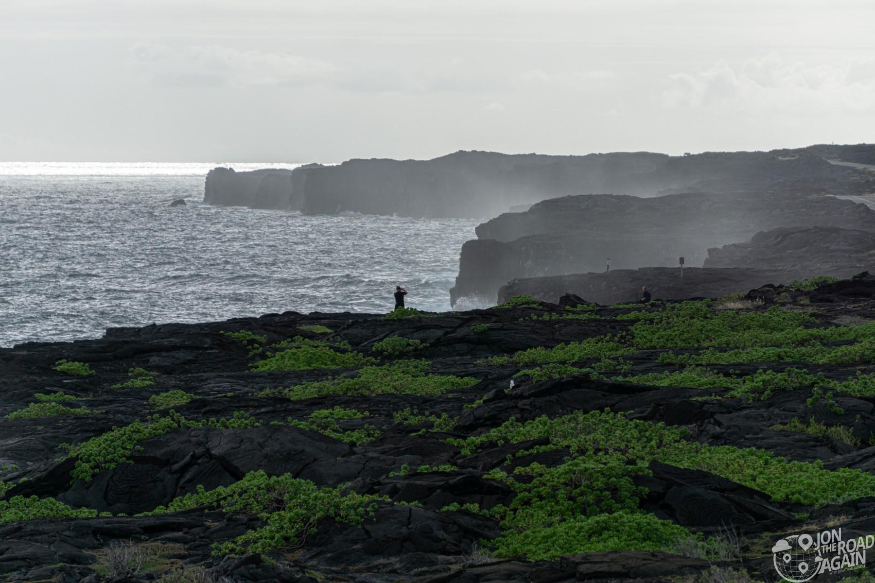 Volcanoes National Park shoreline