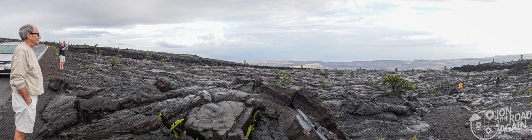 Lava field panorama
