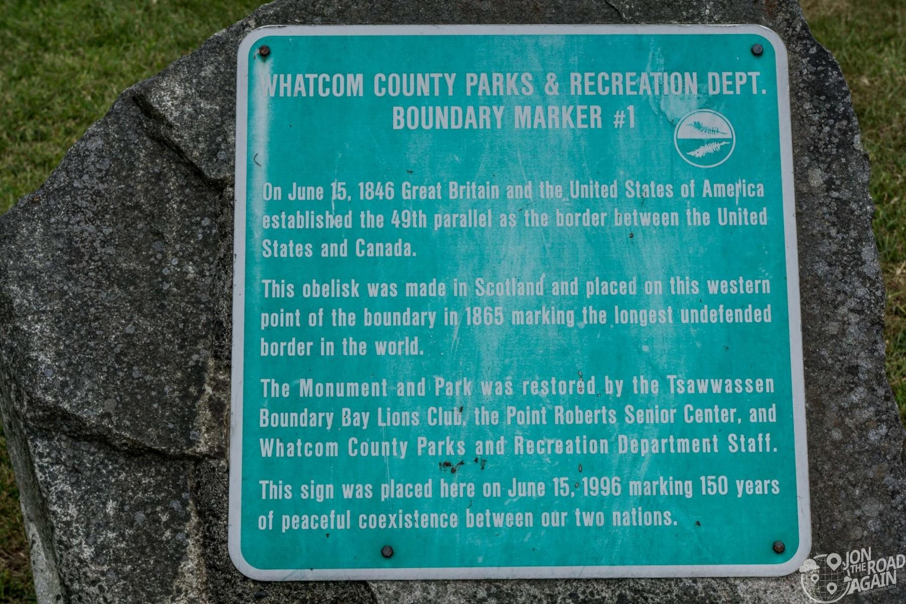 Whatcom County Boundary Marker