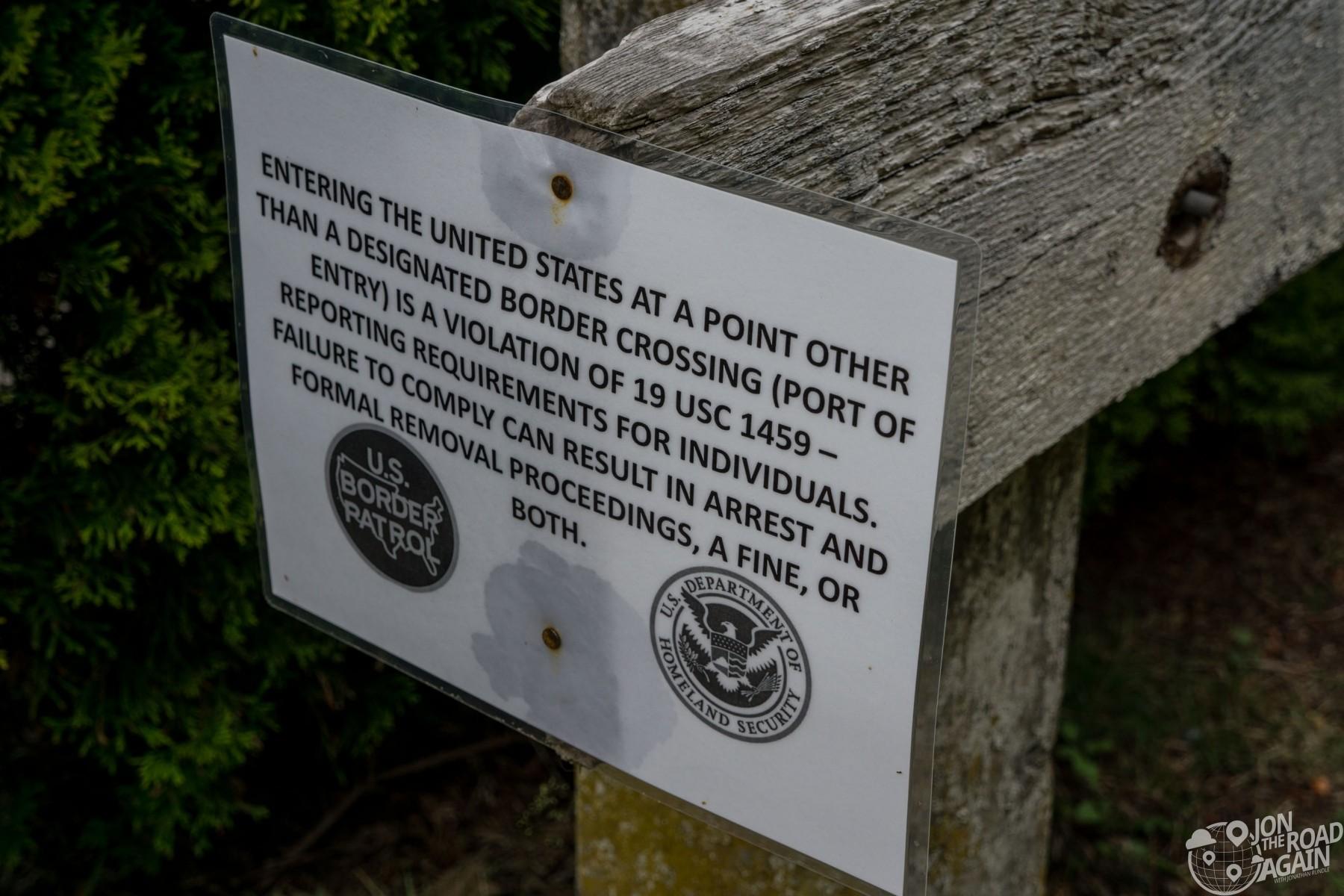 Border patrol laminated sign