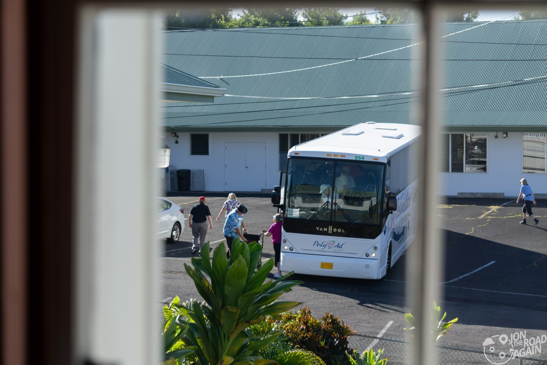 Tour Bus at St. Benedict Painted Church