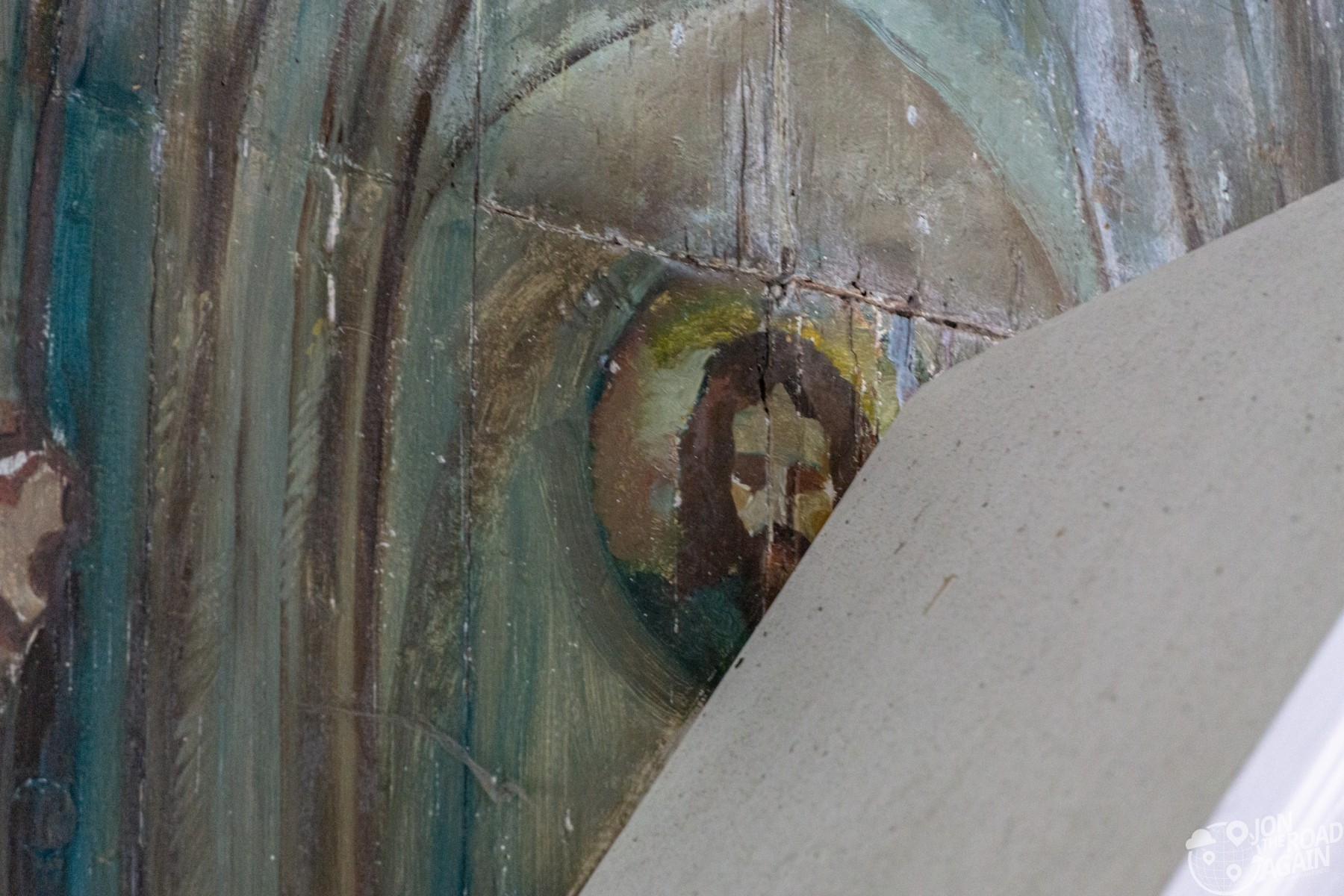 Hidden Jesus at St. Benedict Painted Church