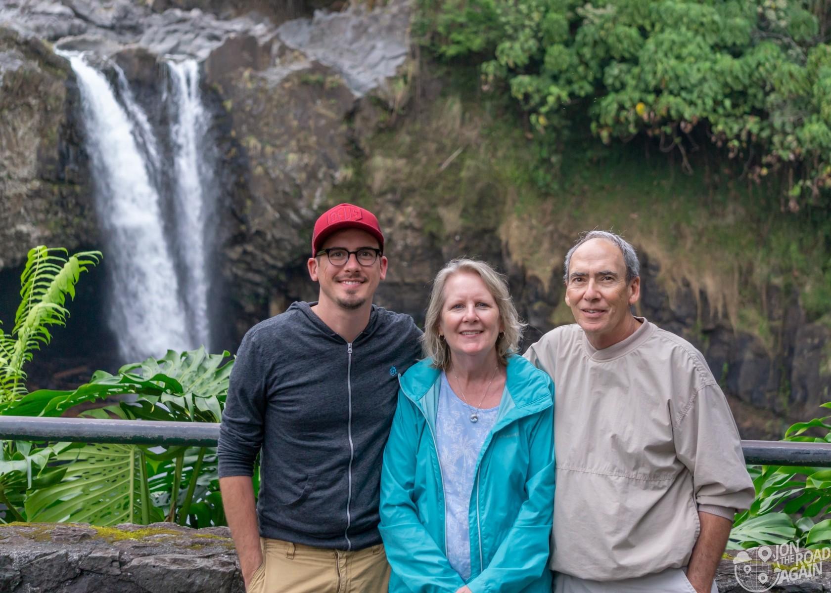 Family photo at Rainbow Falls