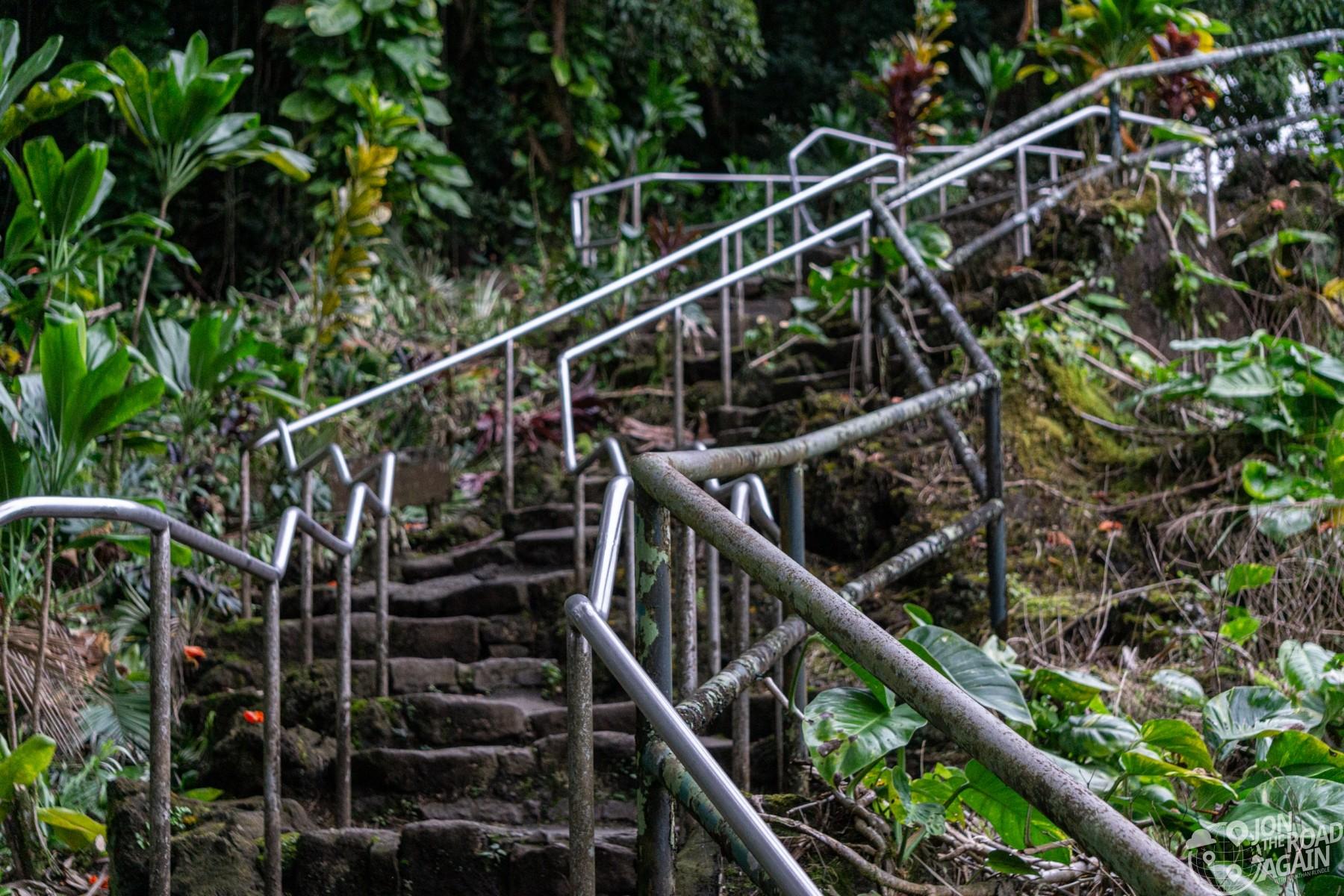 Stairway leading above Rainbow Falls