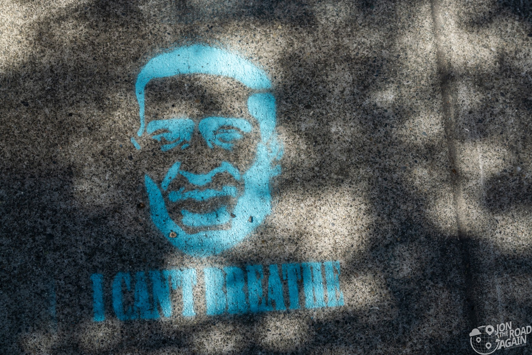 I cant breathe George Floyd stencil mural