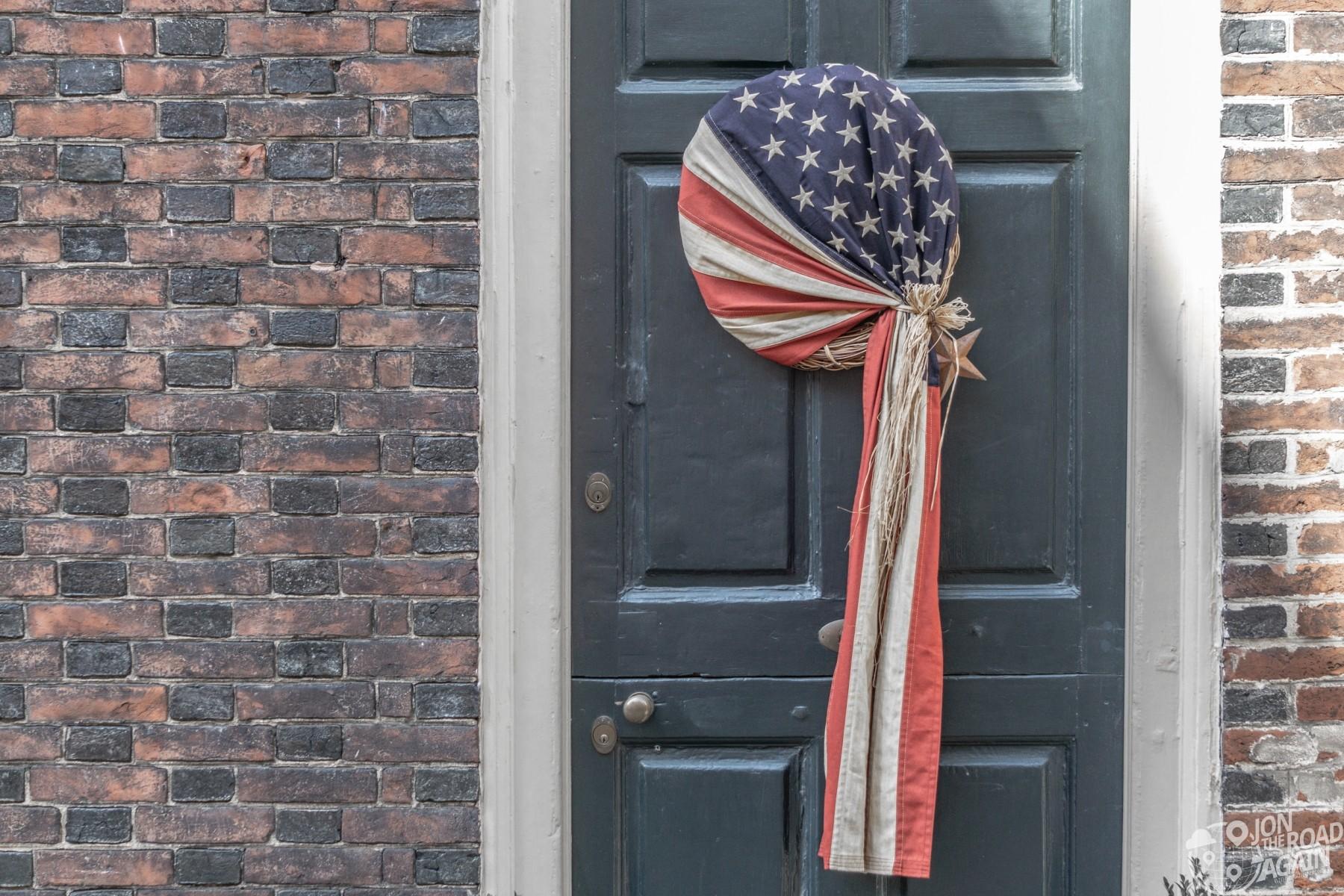 Elfreth's Alley American Flag Wreath