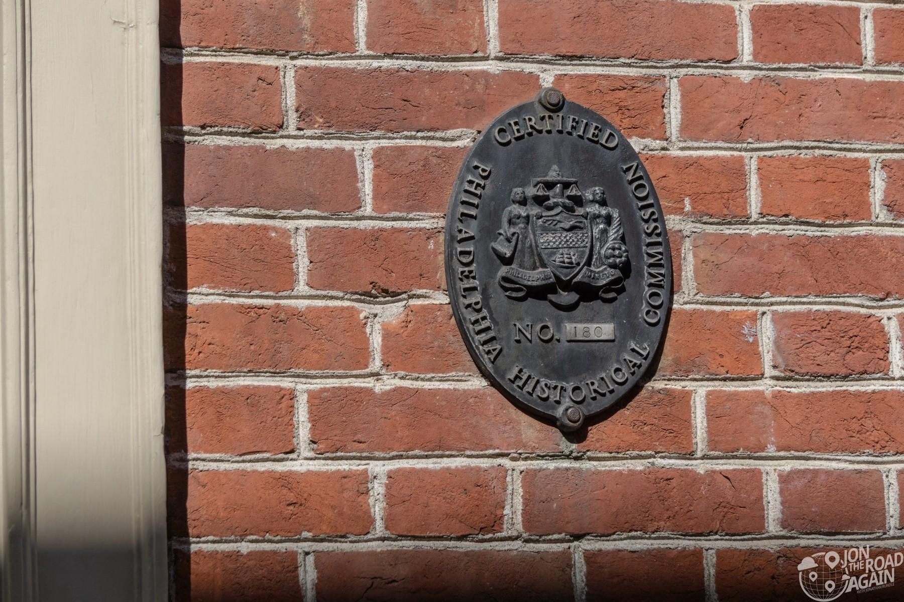Philadelphia Historical Commission Plaque