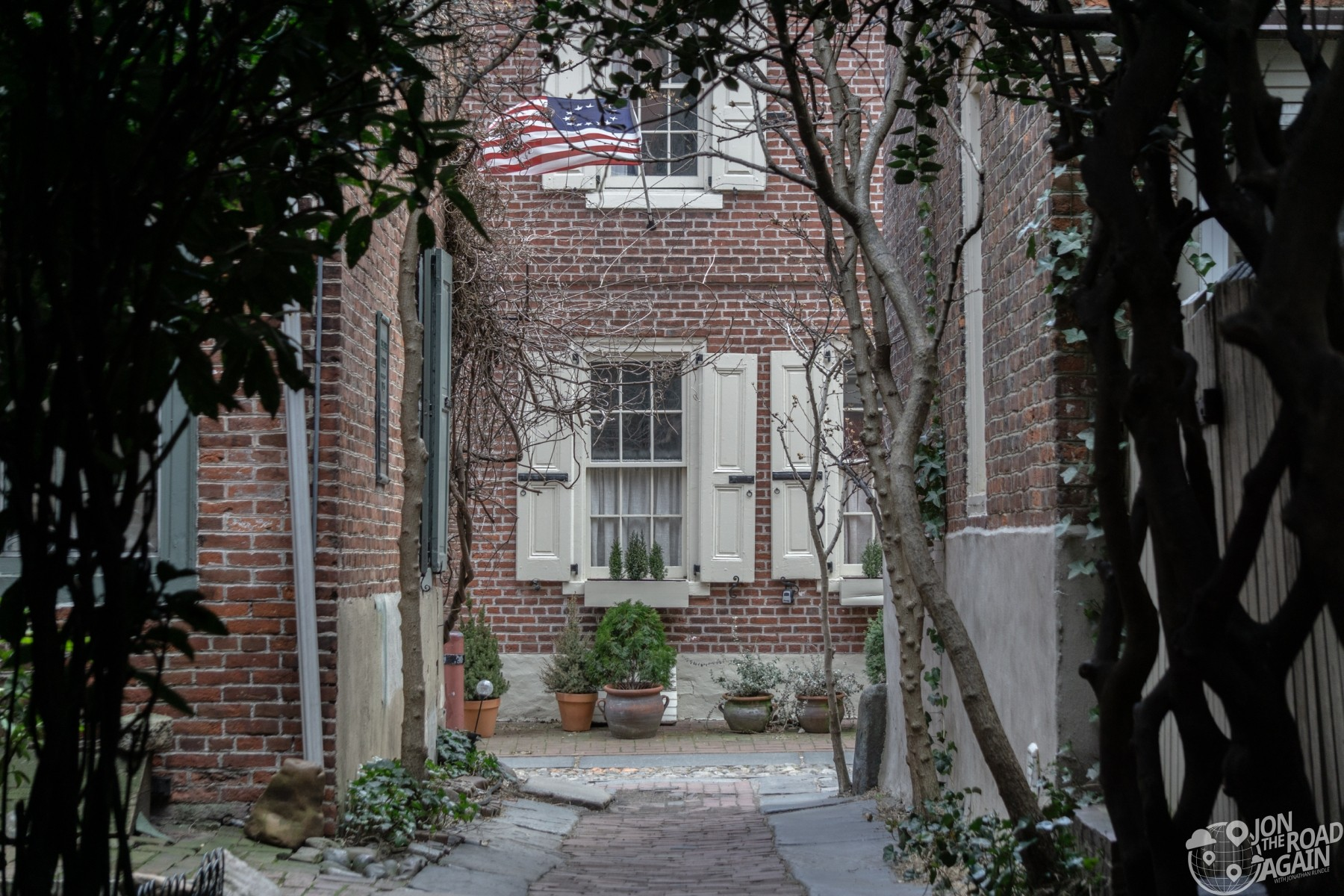 Elfreth's Alley from Bladen's Court