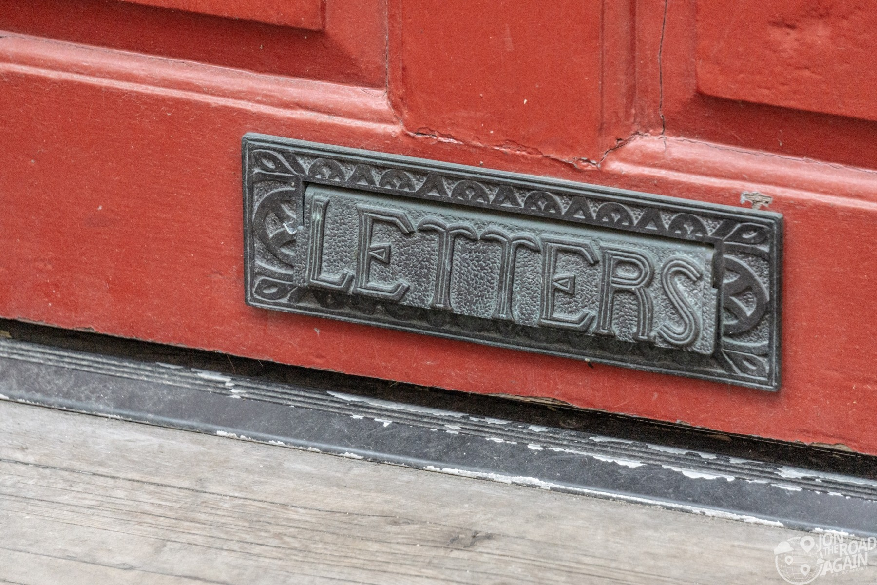 Letters Mail slot on Elfreth's Alley