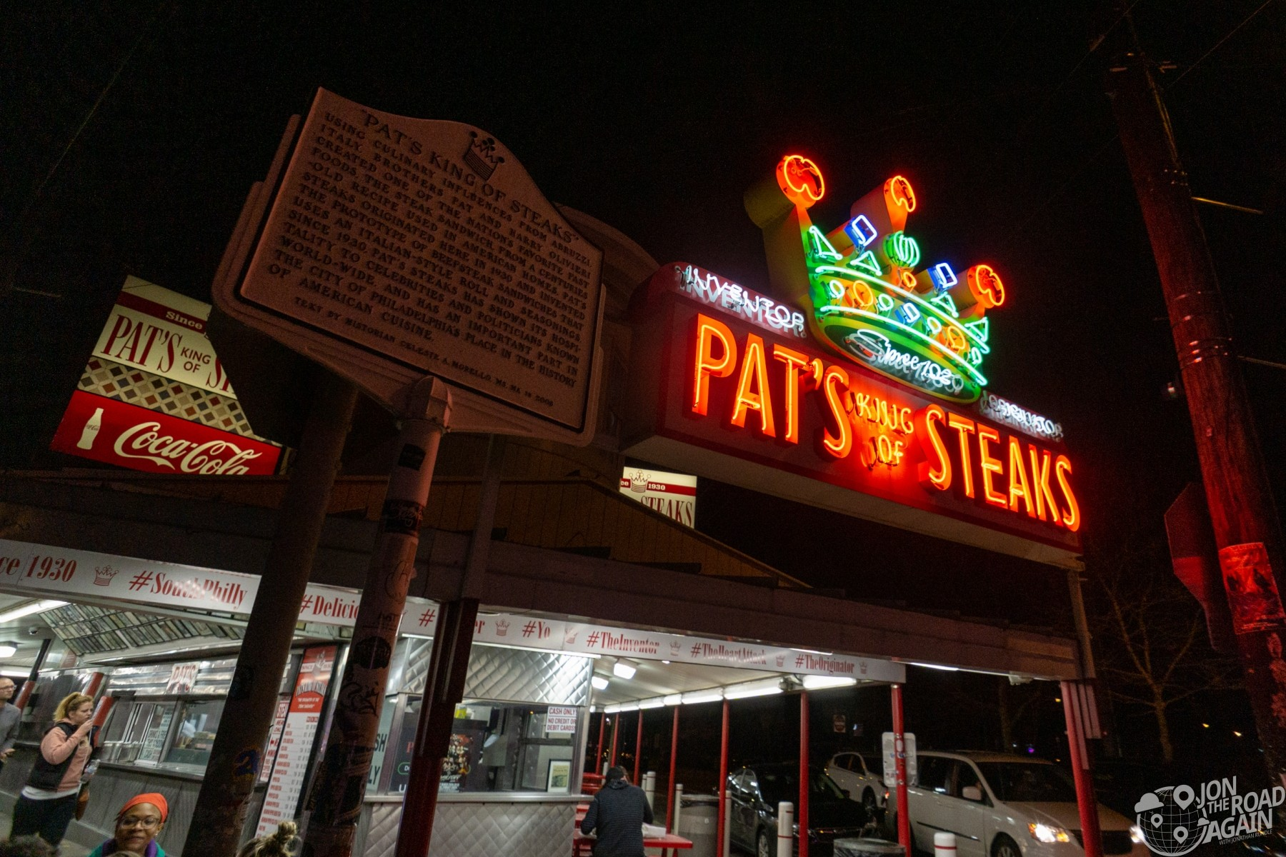 Pat's King of Steaks Sign