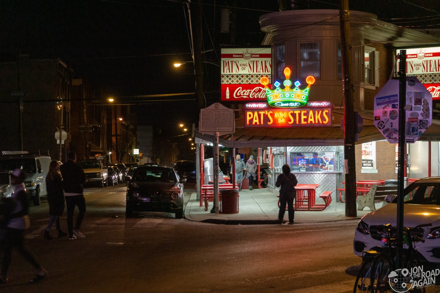 Pat's King of Steaks at Cheesesteak Corner