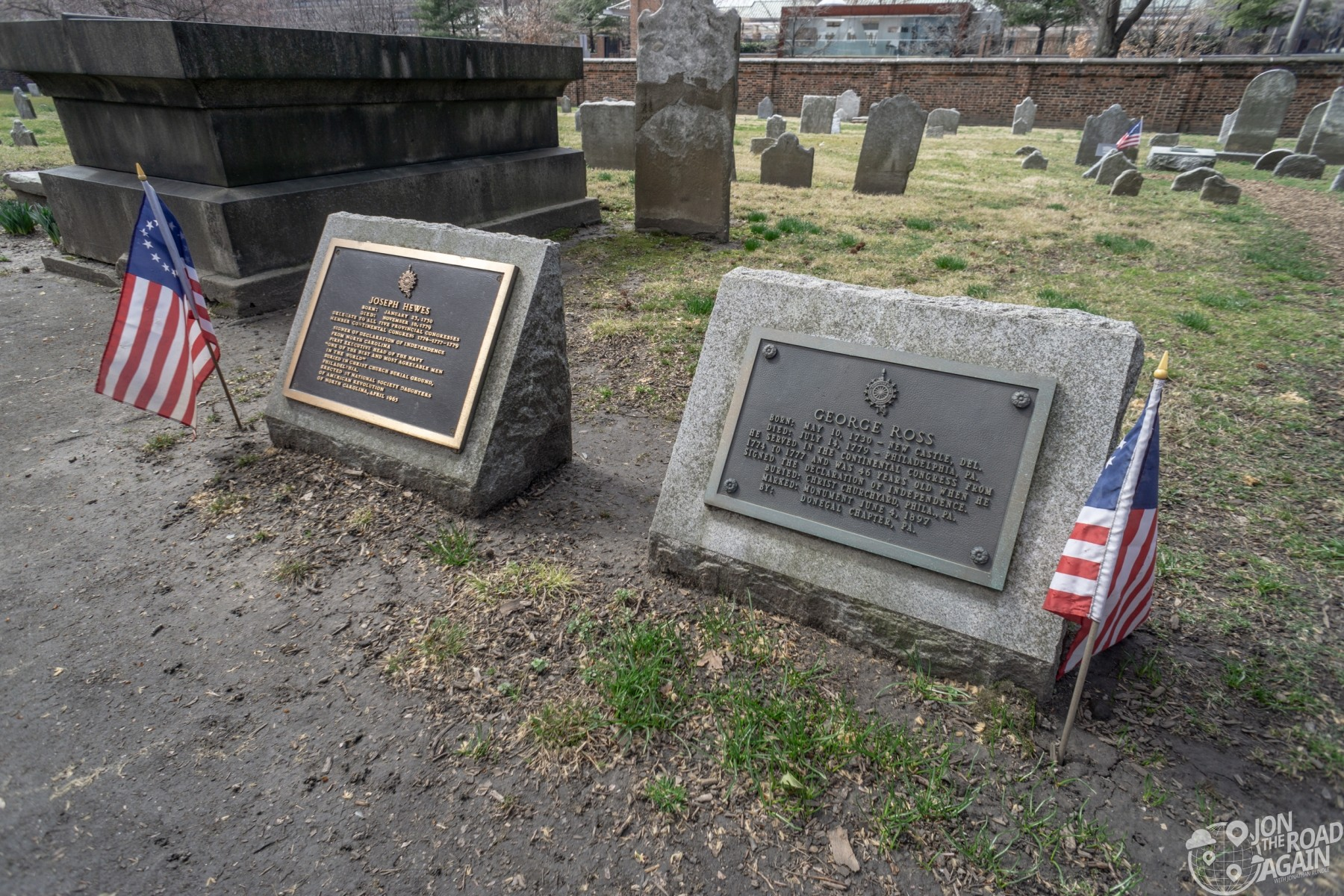Graves of Joseph Hewes and George Ross