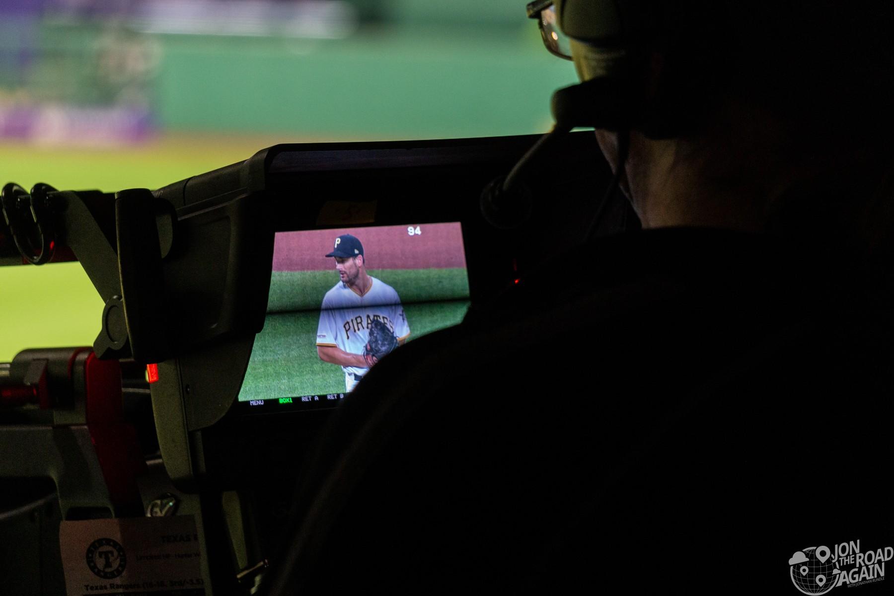 TV camera baseball
