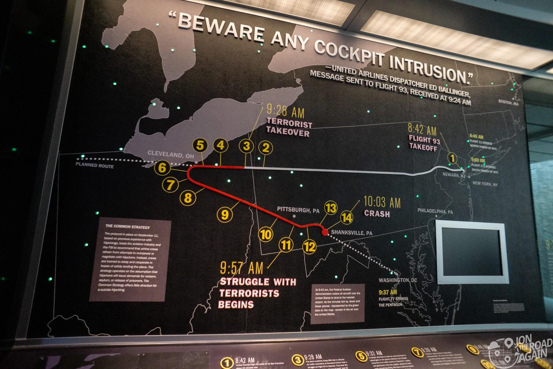 Flight 93 map
