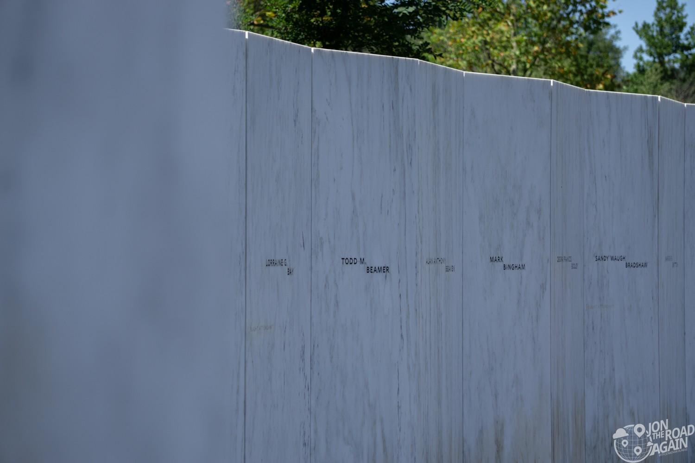Flight 93 Memorial Wall of Names