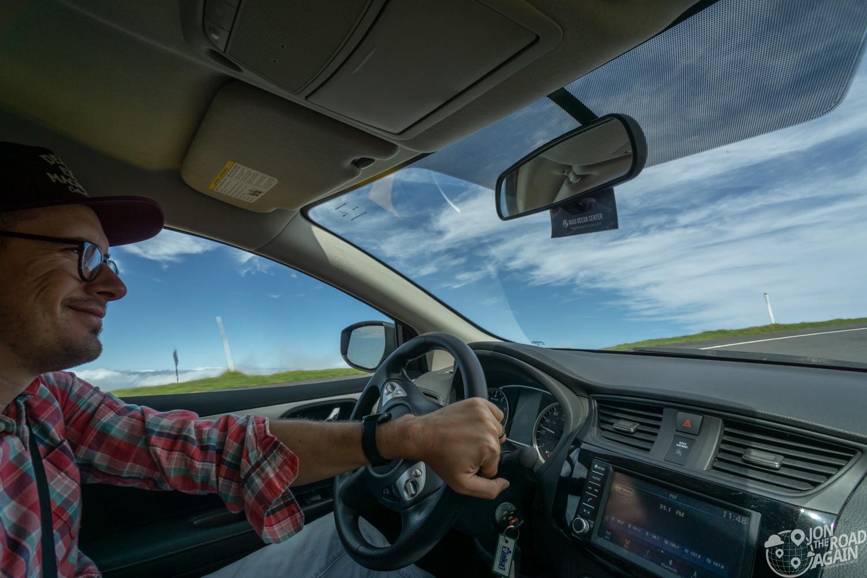 Driving Haleakala Road