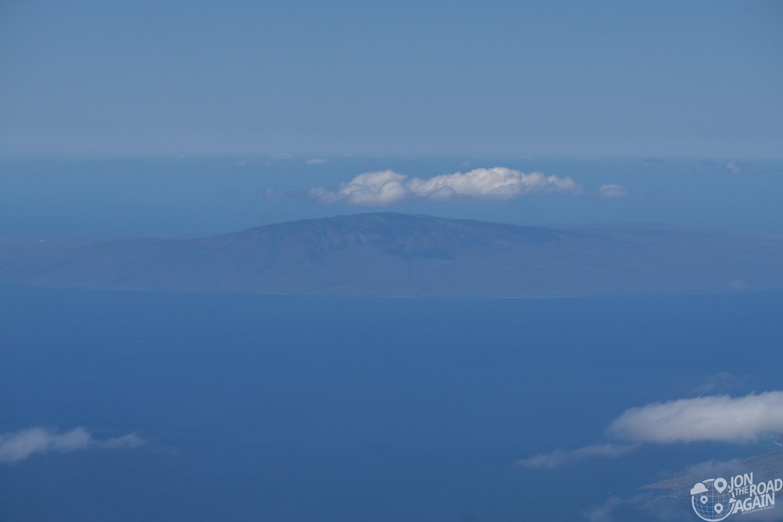 Molokai from Haleakala summit