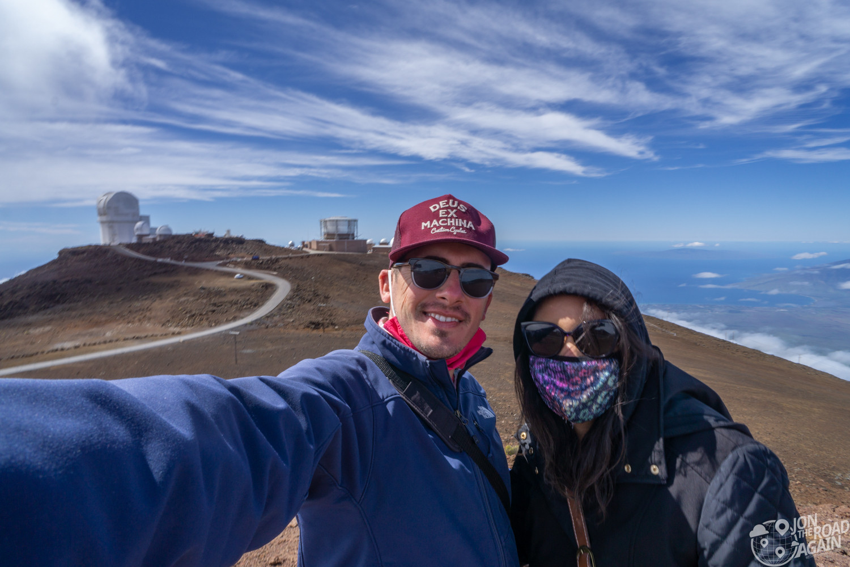 Haleakala National Park crater selfie