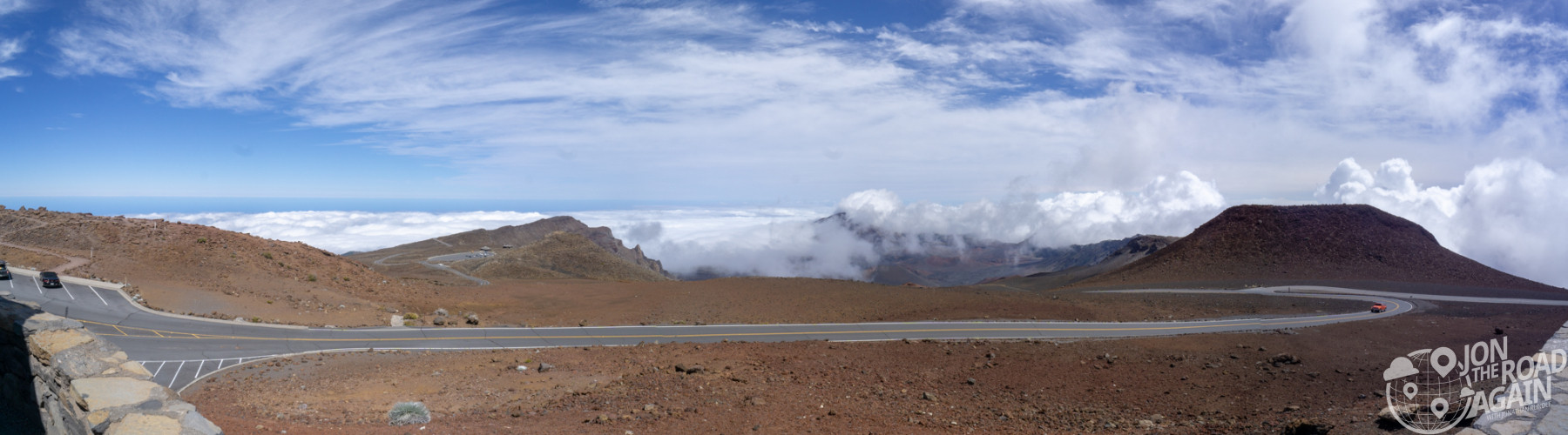 Haleakala National Park crater summit panorama