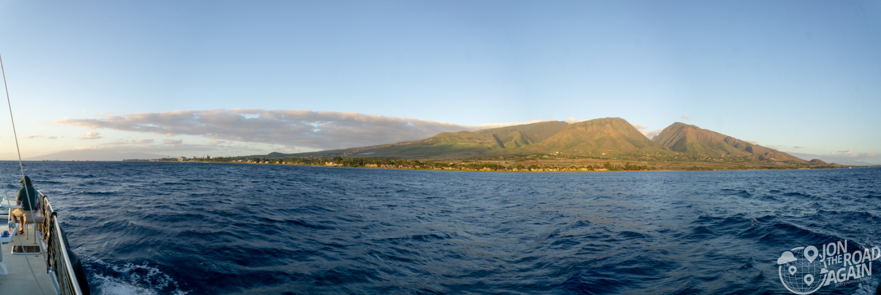 Maui sunset cruise panorama