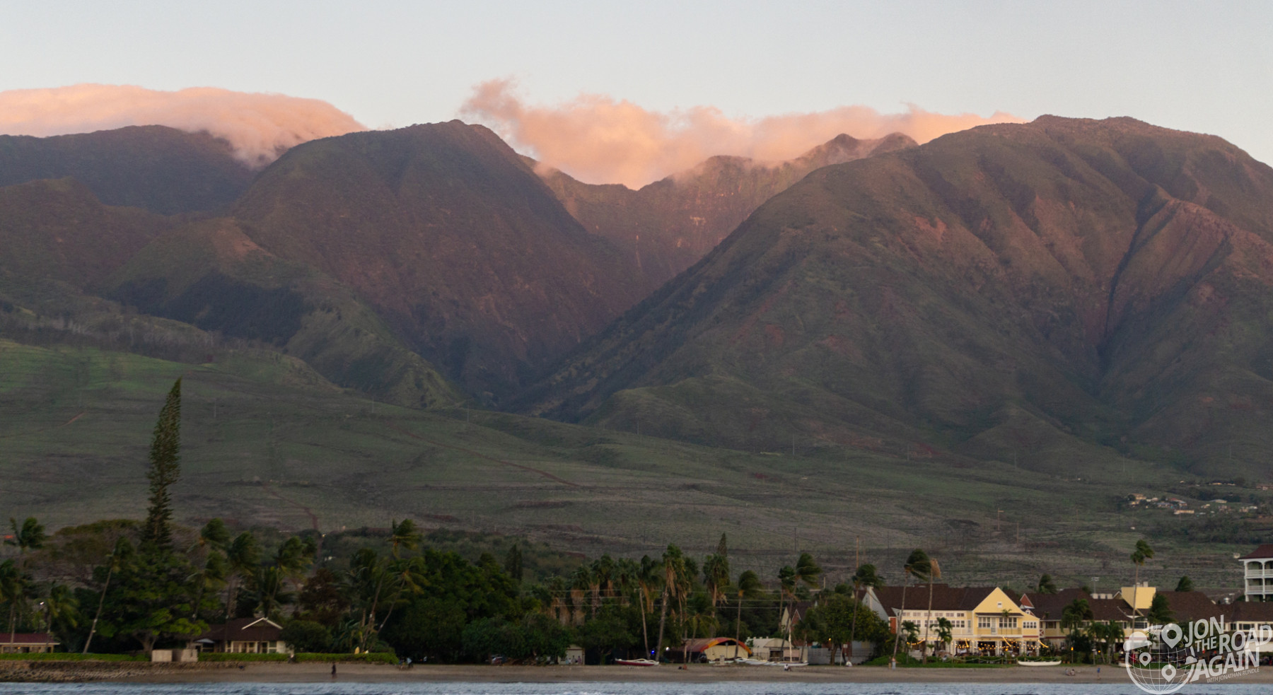 Maui mountains at sunset