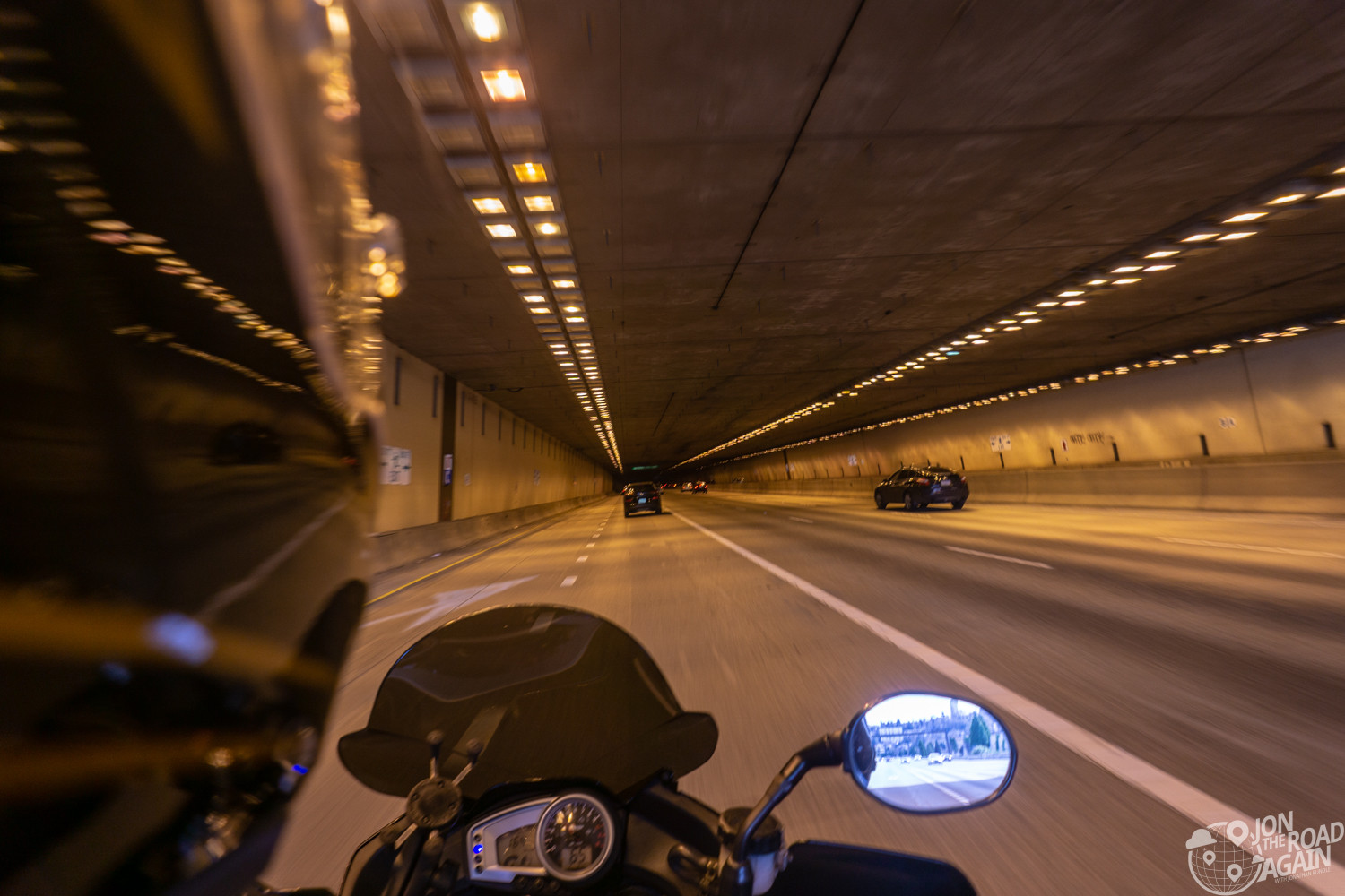 I-90 tunnel on motorcycle