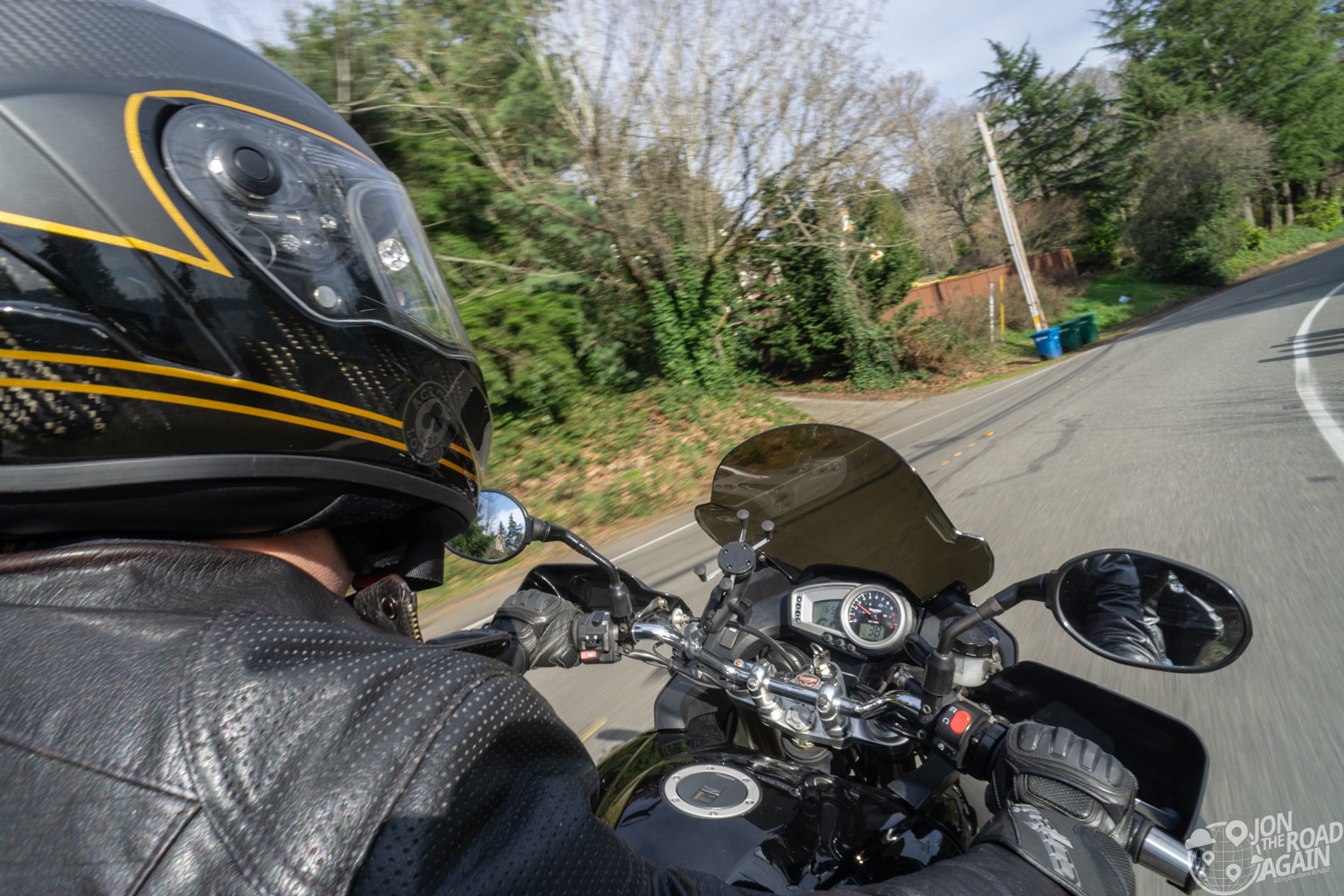 Riding motorcycles on Mercer Island
