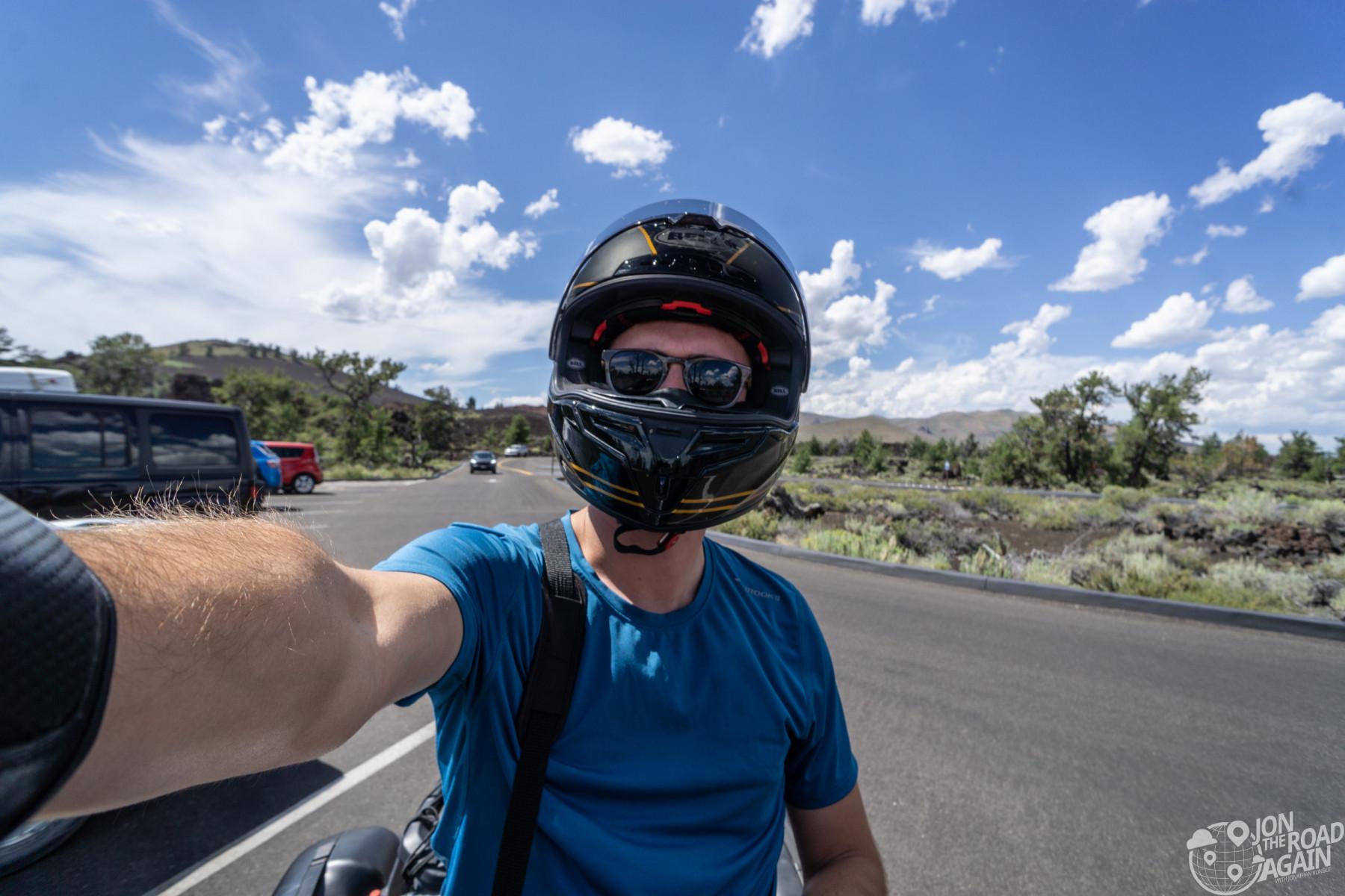 Motorcycle helmet selfie idaho