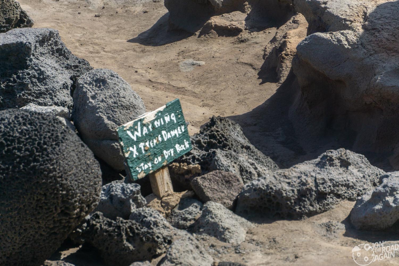 Nakalele Blowhole sign