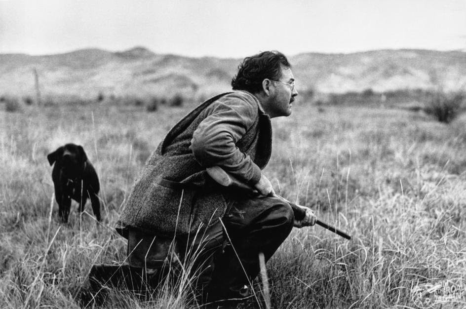 Ernest Hemingway hunting in Idaho