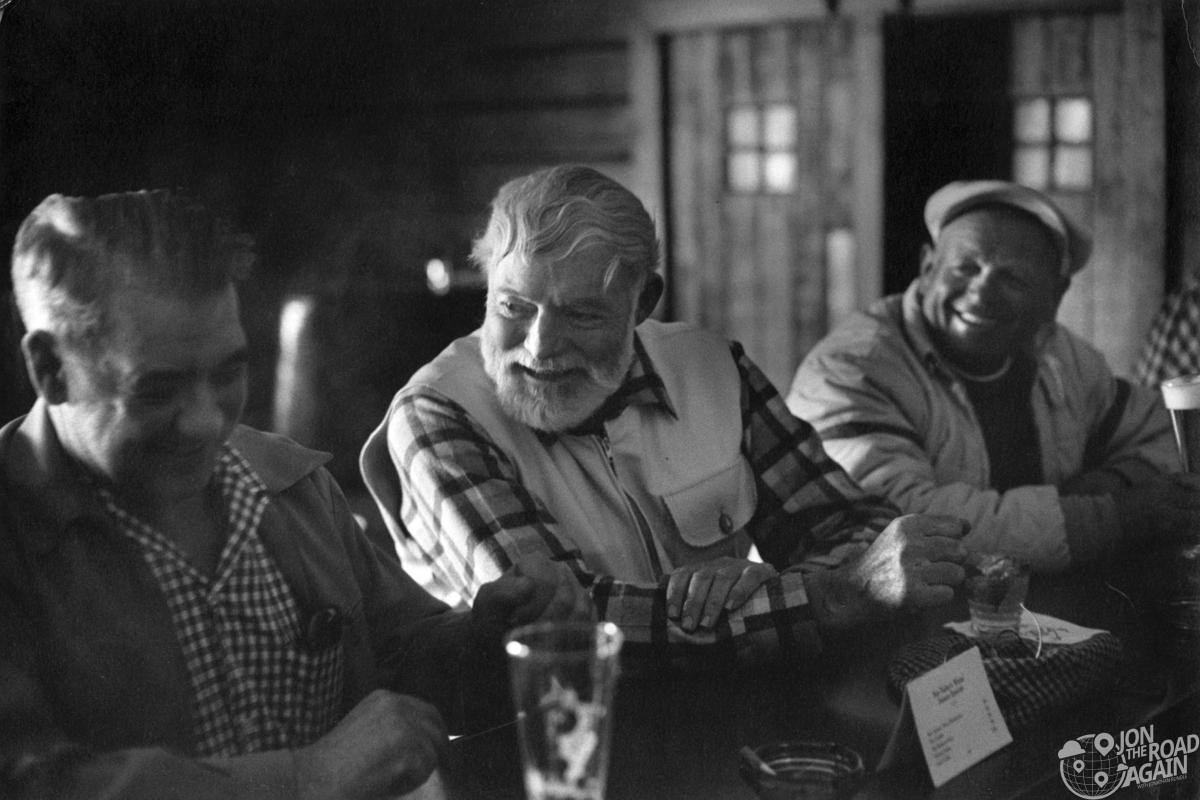 Ernest Hemingway drinking in Idaho